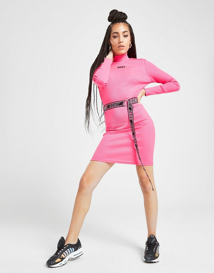 Supply & Demand Belted Rib Dress