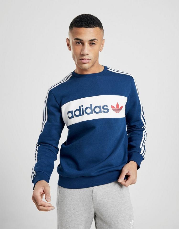 adidas Originals  Linear Crew Neck Sweatshirt Heren