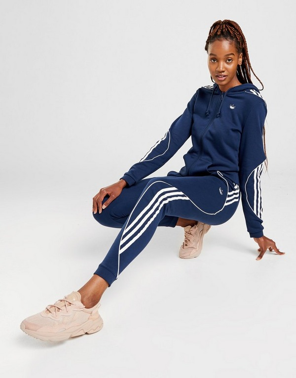 Shoppa adidas Originals Hoodie Dam i en Blå färg | JD Sports
