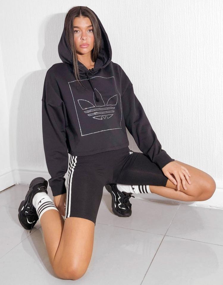 felpa crop adidas donna