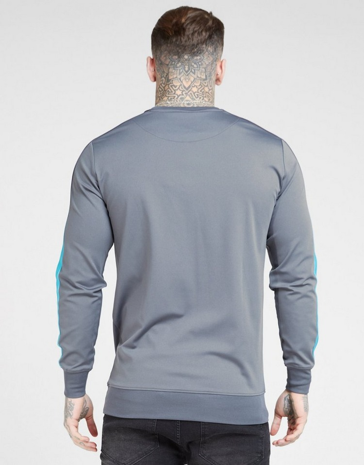 SikSilk Fade Panel Crew Sweatshirt