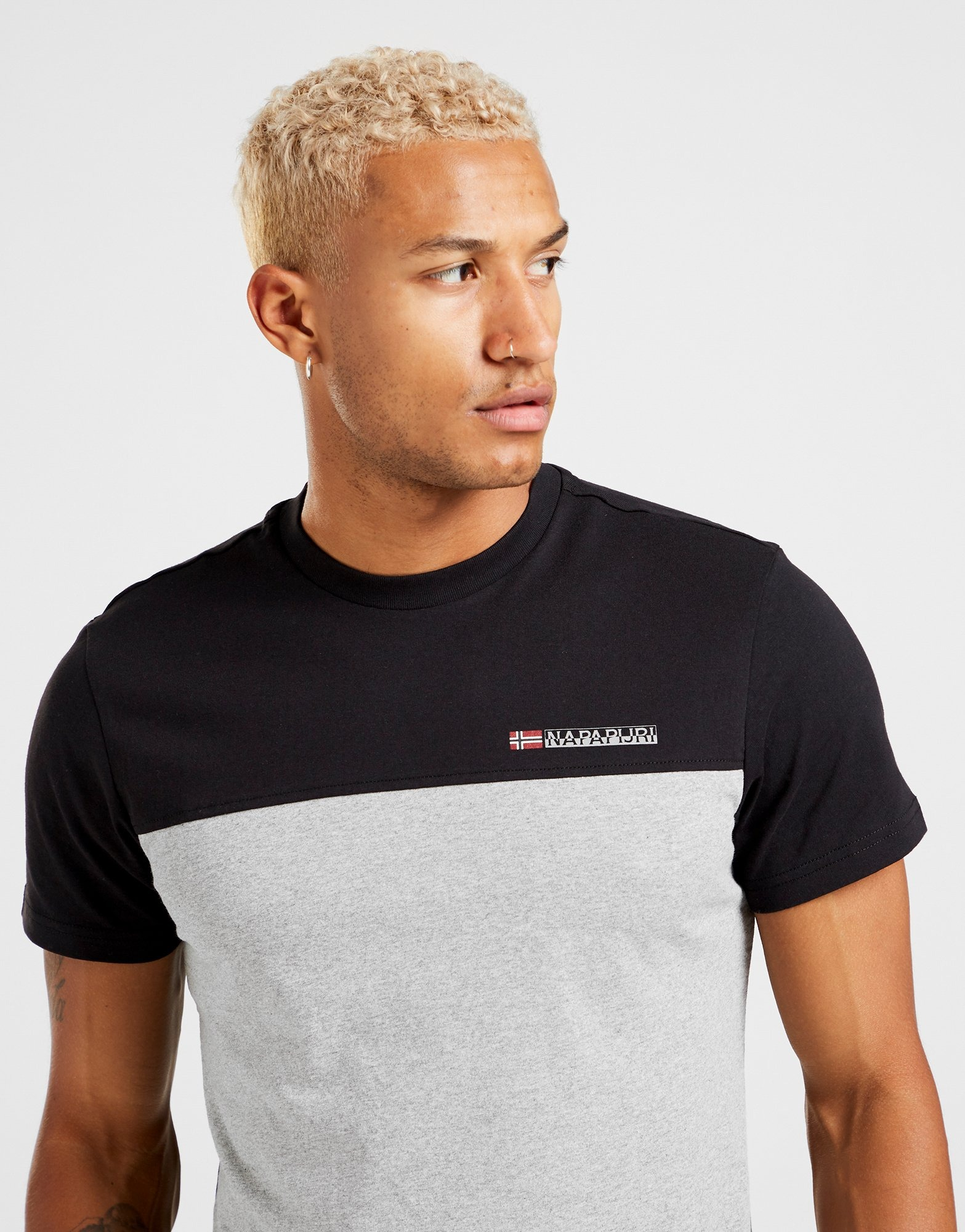 Napapijri Colour Block T Shirt Herr | JD Sports Sverige