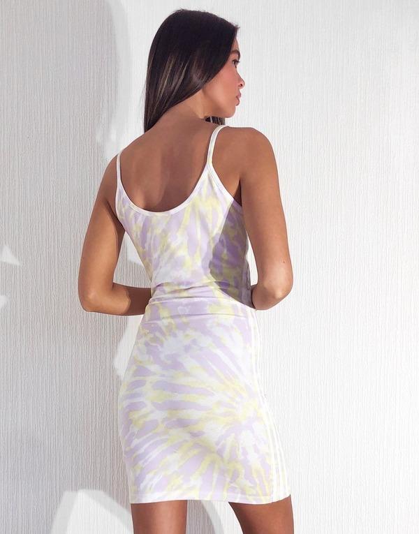 Acheter Violet Adidas Originals Robe A Bretelles Tie Dye Femme