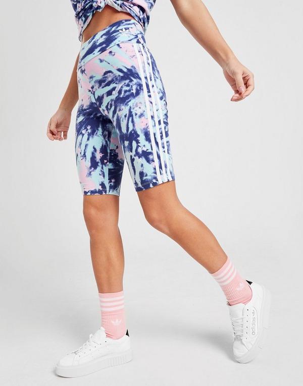 Acheter Blue adidas Originals Short Cycliste Tie Dye Femme