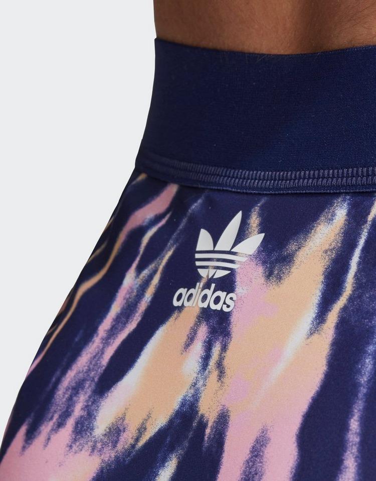 adidas Originals Tie Dye High Waist Bikini Bottoms Women's