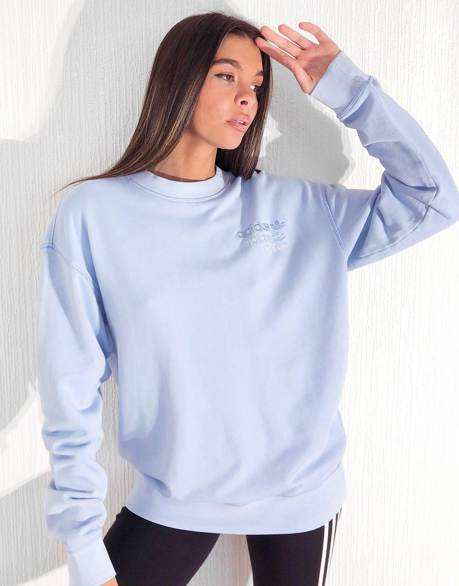 grado desagüe Domar  Buy Blue adidas Originals Overdyed Crew Sweatshirt Women's | JD Sports
