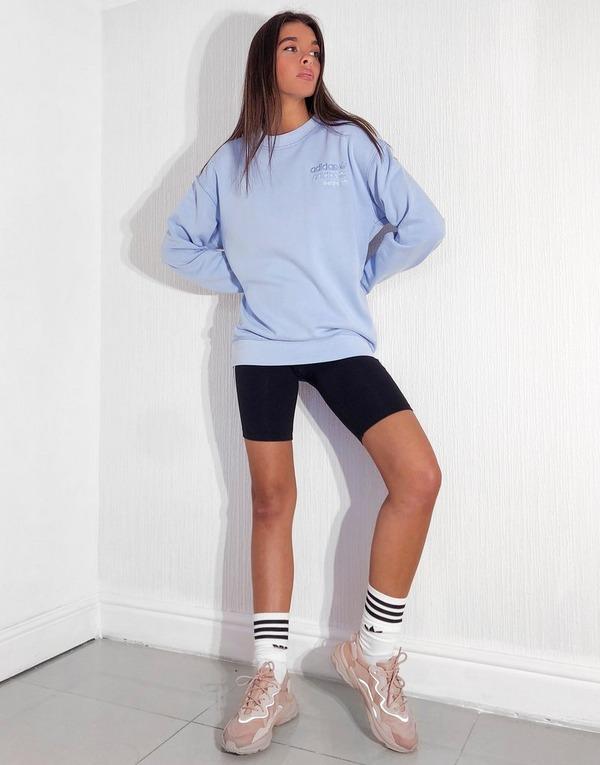 felpa azzurra adidas donna