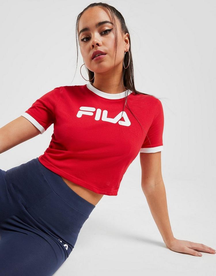 fila logo crop t shirt