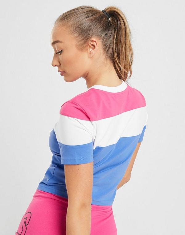 Fila Colour Block Crop T-Shirt
