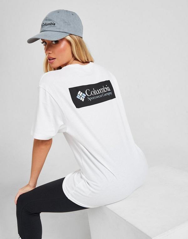 Shoppa Columbia Basic Box T Shirt Dam i en Vit färg