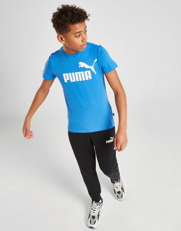 Shop den PUMA Essential Logo T Shirt Kinder in Blau | JD Sports