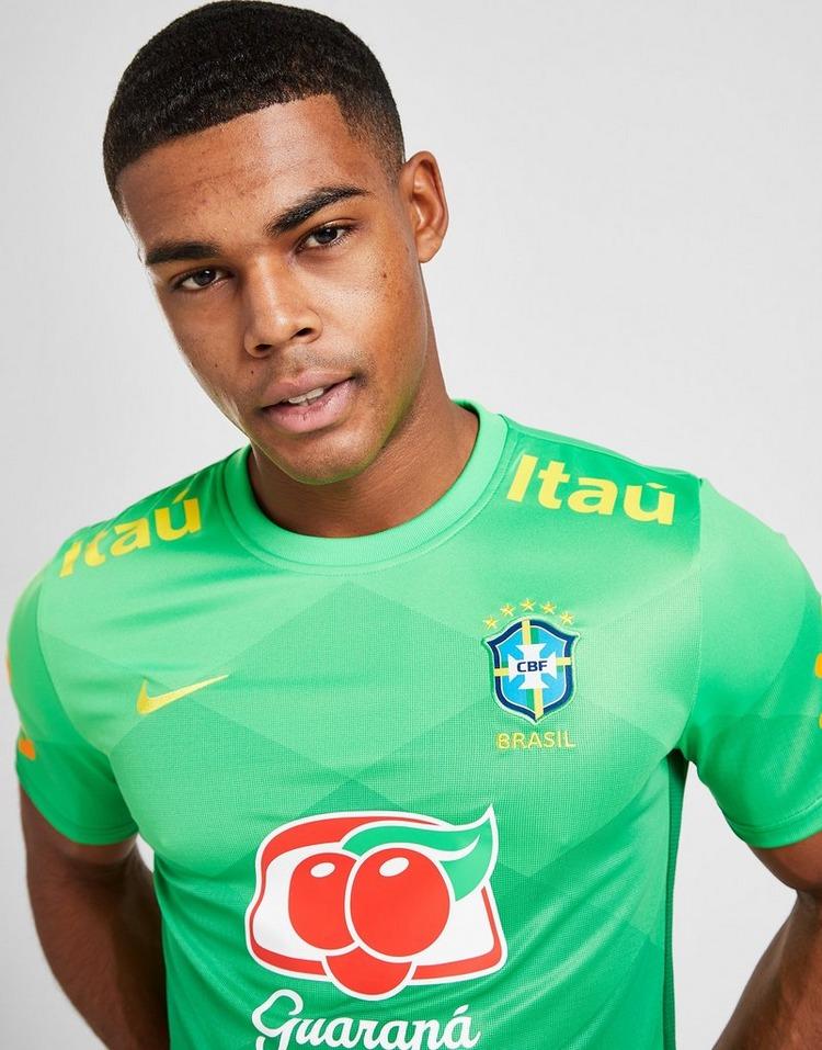 Nike Brazil Pre Match Short Sleeve Shirt