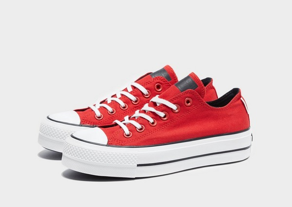 Buy Red Converse Chuck Taylor All Star Lift Canvas Low Top