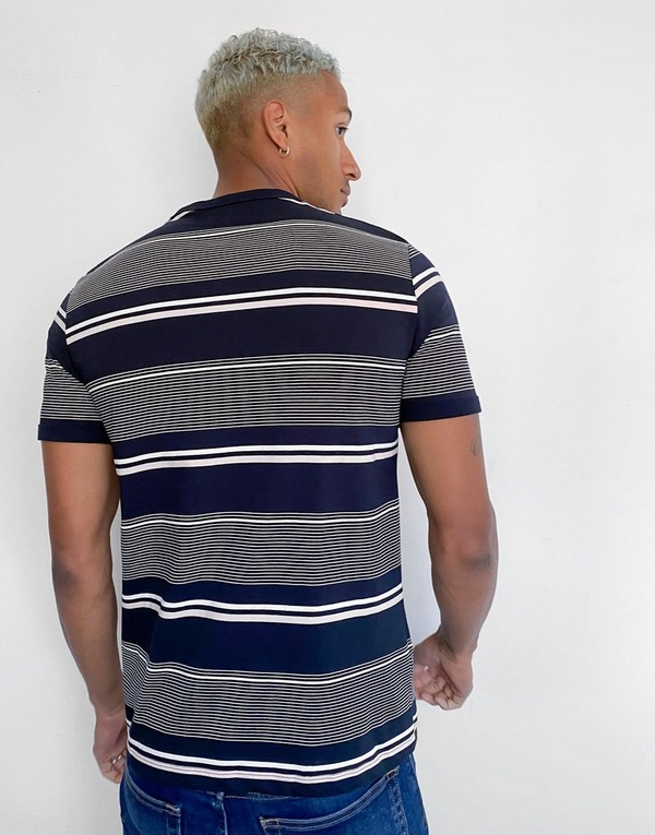 Fred Perry Multi Stripe Short Sleeve T-Shirt Men's