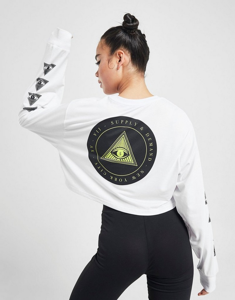 Supply & Demand Pharoah Graphic Long Sleeve Crop T-Shirt