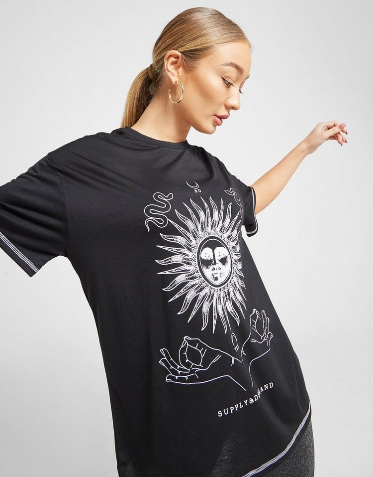Supply & Demand Tarot Graphic Boyfriend T-Shirt