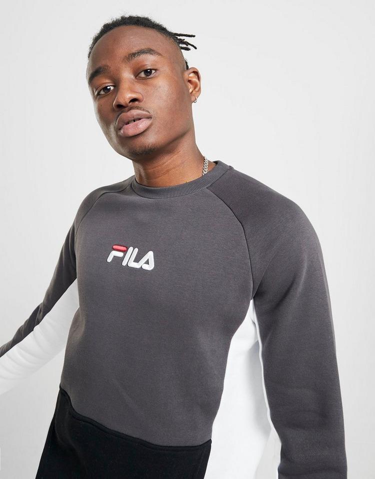 Shoppa Fila Finch Crew Sweatshirt Herr i en Gr? f?rg | JD