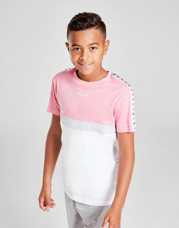 Shop den adidas Originals Colour Block Tape T Shirt Kinder