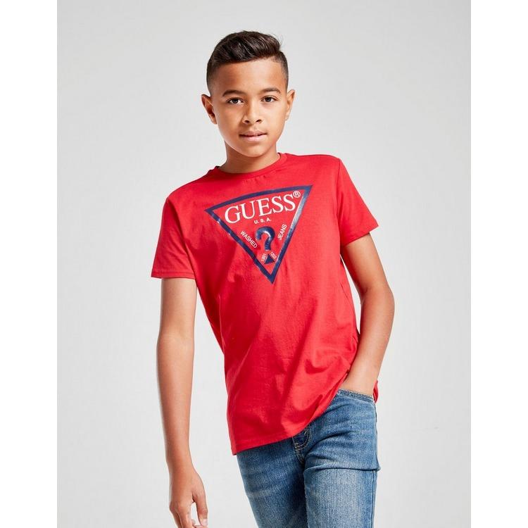 GUESS Triangle Logo Short Sleeve T-Shirt Junior