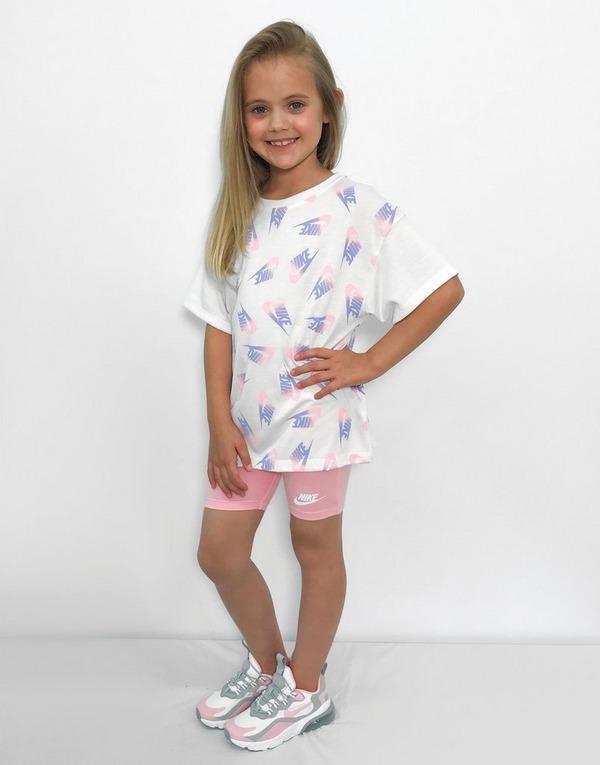 Nike Girls' T-Shirt/Cycle Shorts Set Children