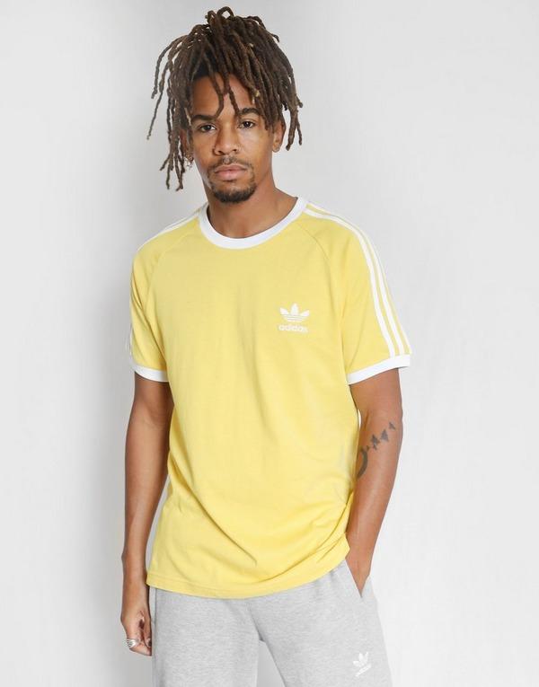 Acheter Yellow adidas Originals T Shirt 3 Stripes Homme