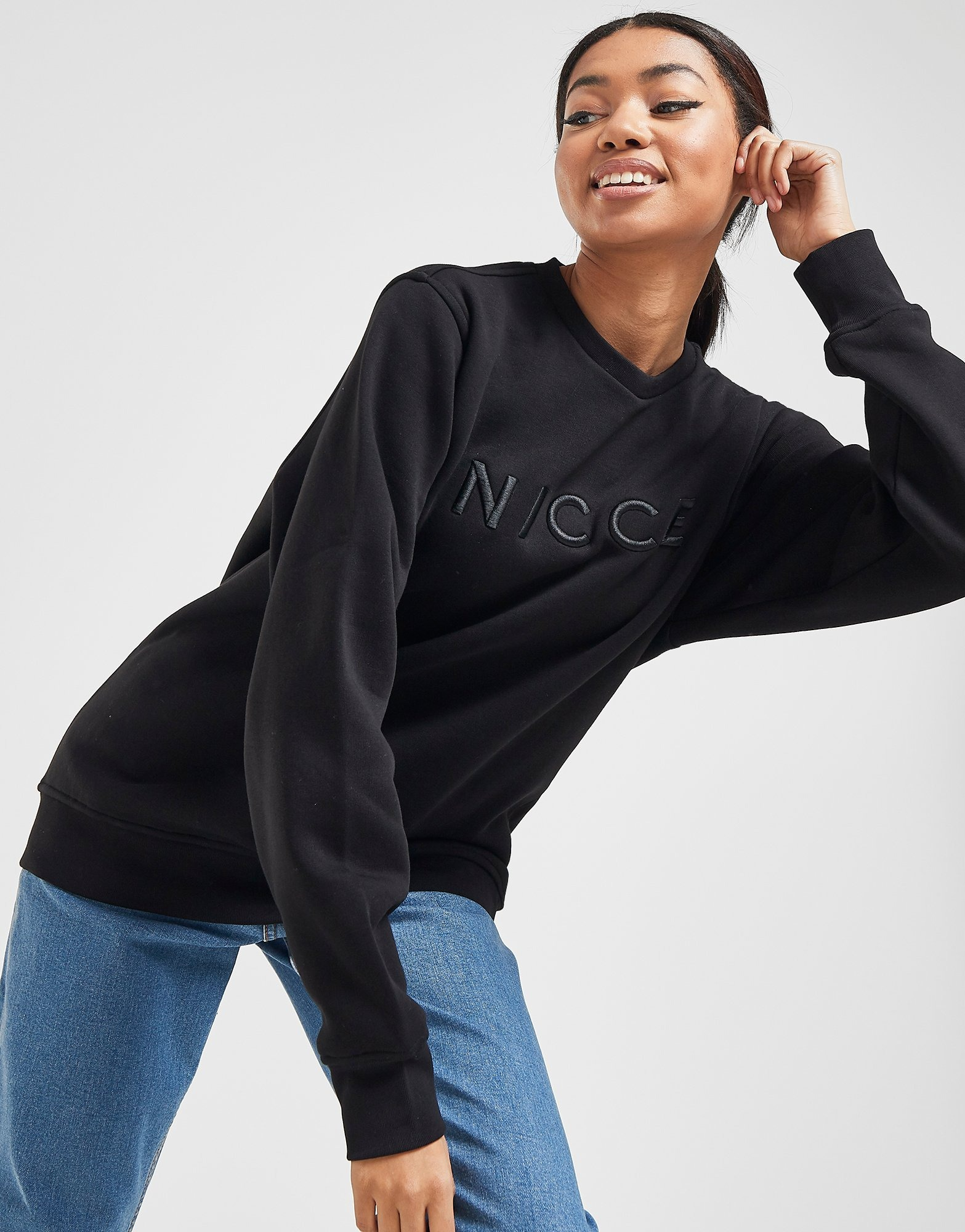 Nicce Embroidered Logo Crew Sweatshirt by Nicce
