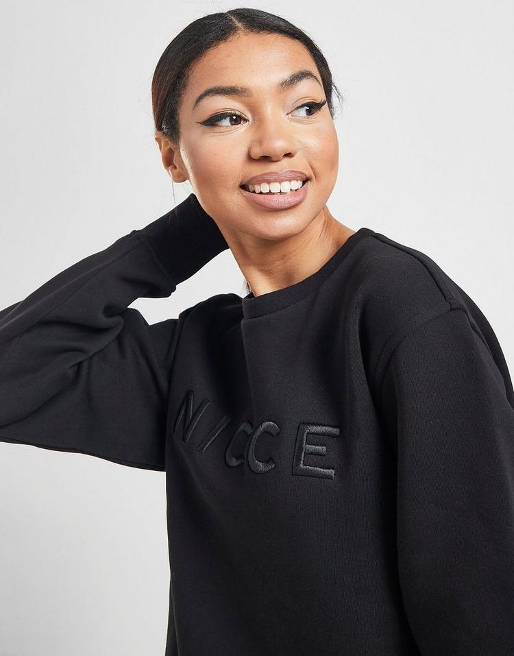 Nicce Embroidered Logo Crew Sweatshirt