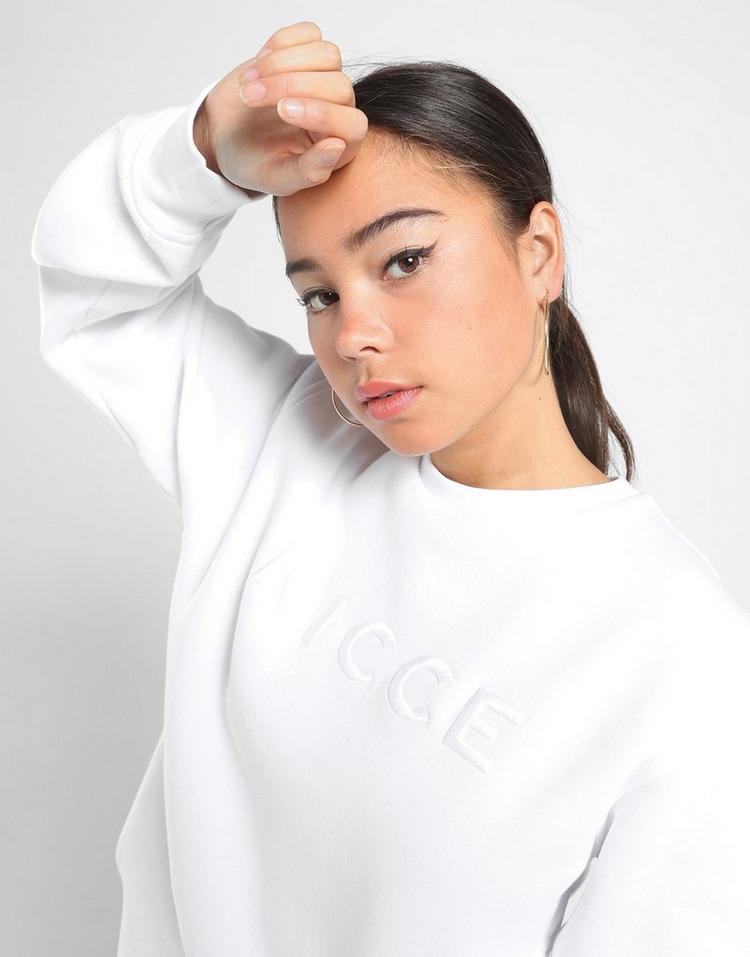 Nicce Embroidered Logo Crew Sweatshirt