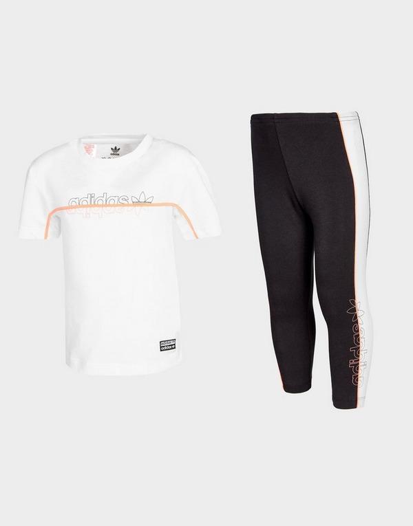 adidas Originals Girls' T-Shirt/Leggings Set Infant