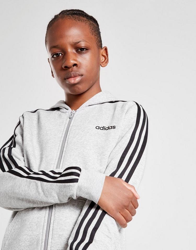 adidas 3-Stripes Full Zip Hoodie Junior