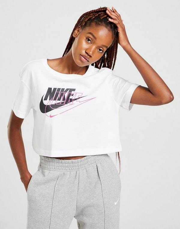 Nike camiseta crop Double Futura Logo