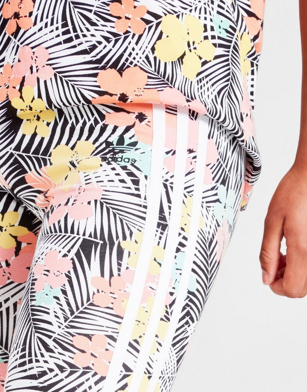 adidas Originals Girls' Palm All Over Print Leggings Junior