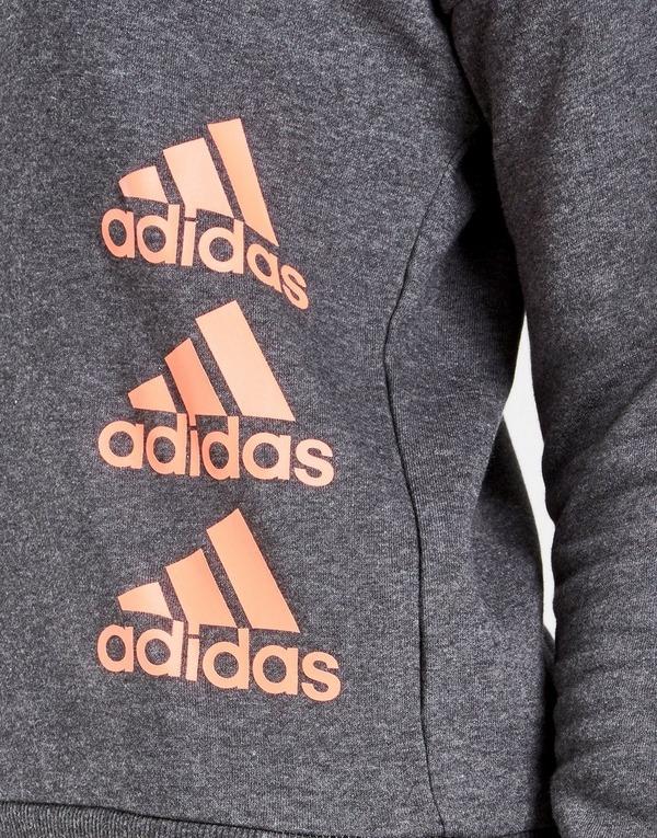 adidas Girls' Badge Of Sport Crew Sweatshirt Junior