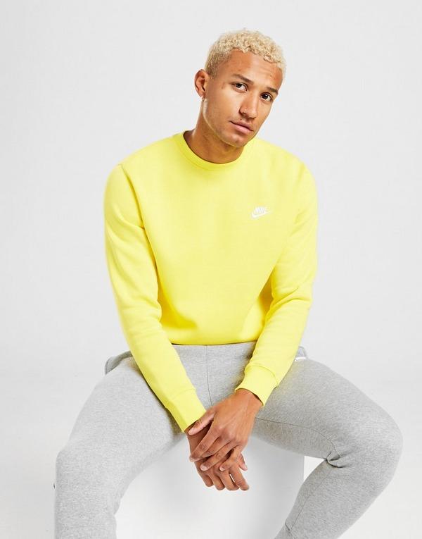 espina Rápido Navidad  Buy Yellow Nike Club Crew Sweatshirt