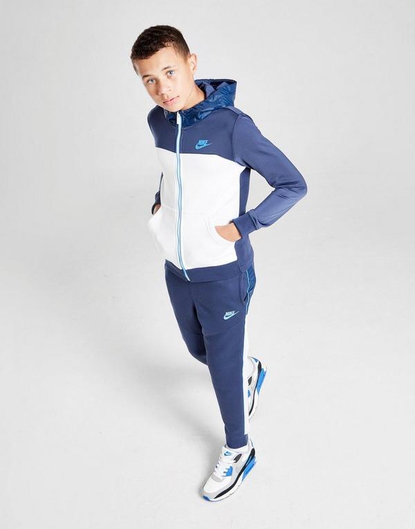 Buy White Nike Hybrid Full Zip Fleece
