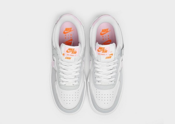 nike air force 1 shadow blanc orange femme