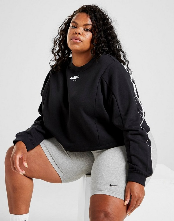Acheter Noir Nike Sweatshirt Taille Plus Size Air Crop Crew