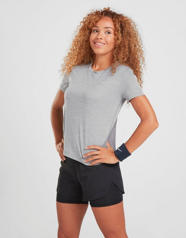 Koop Grijs Nike Running Miler Short Sleeve T-Shirt Dames