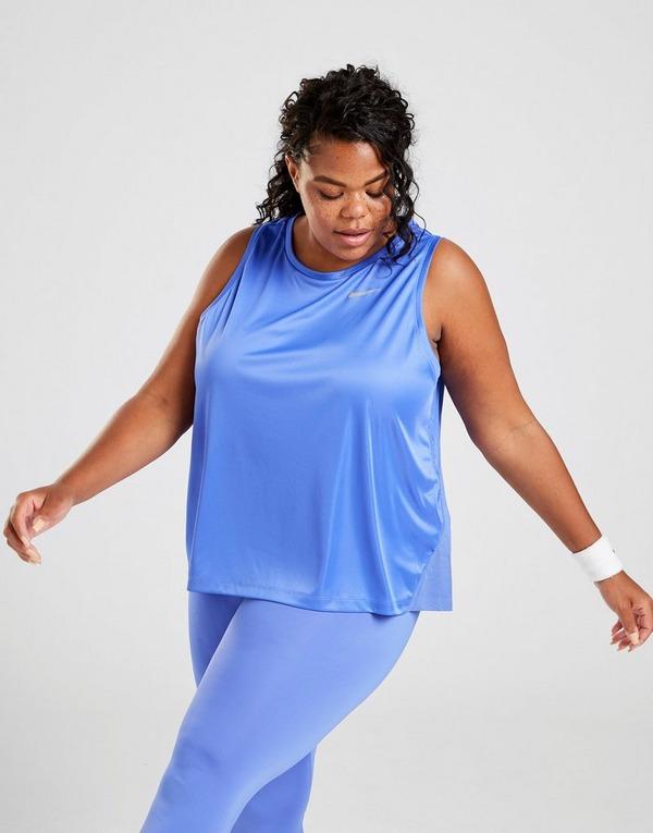 Compra Nike Camiseta De Tirantes Tallas Grandes Running Miler En Azul