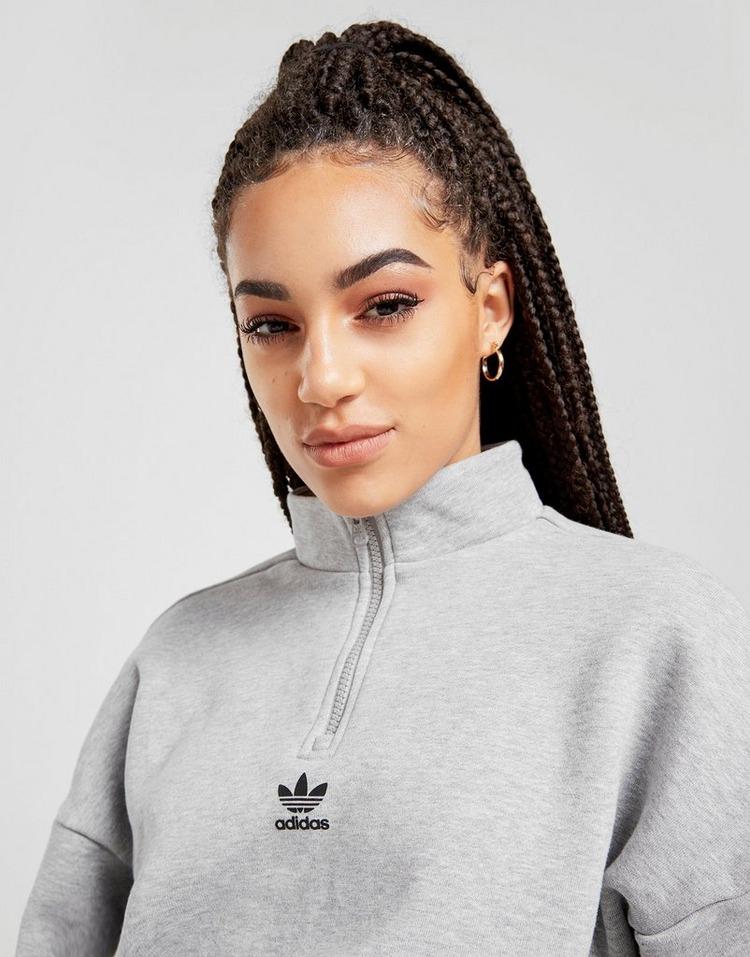 adidas Originals Repeat Trefoil 1/4 Zip Sweatshirt Dame