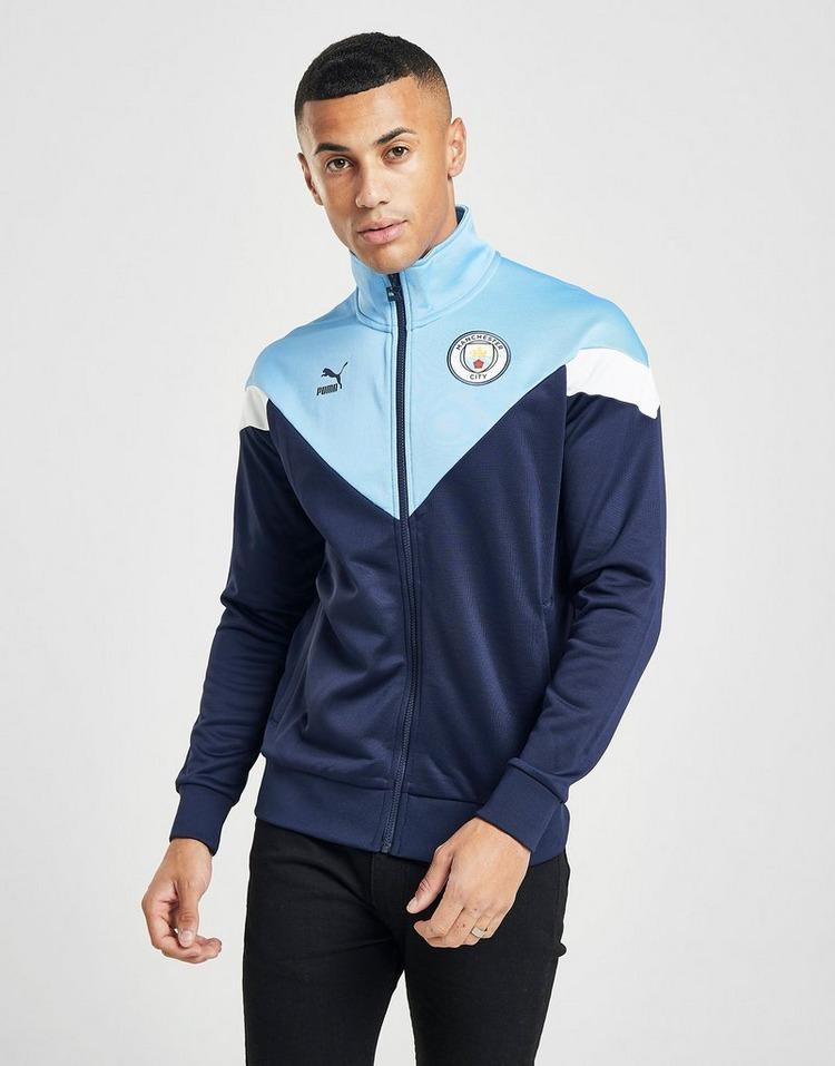 Creta Goma de dinero defensa  Buy Blue PUMA Manchester City FC Icon Track Jacket | JD Sports