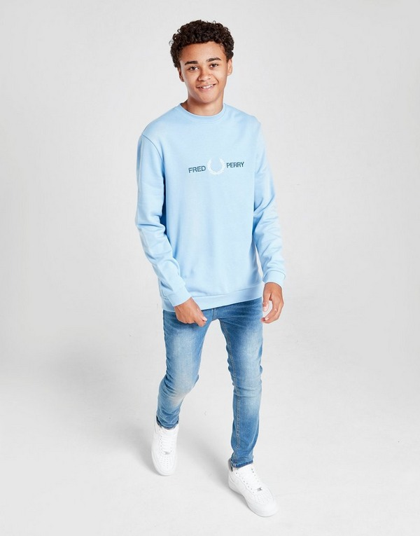 Fred Perry Embroidered Crew Sweatshirt Junior