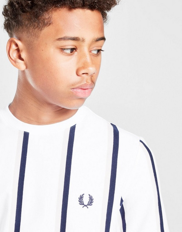 Fred Perry Vertical Stripe T-Shirt Junior