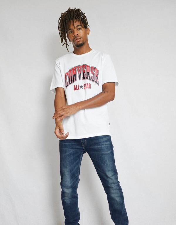 Shop den Converse Large Split Logo T Shirt Herren in White