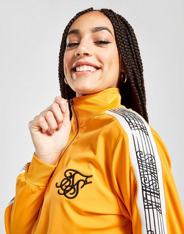 SikSilk Crop 1/4 Zip Tape Sweatshirt