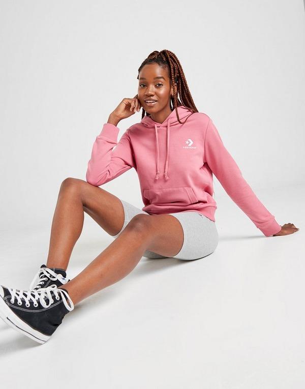 Koop Pink Converse Chevron Overhead Hoodie Dames | JD Sports