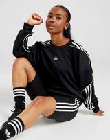 adidas Originals Monochrome Trefoil Logo Poly Crew Long Sleeved Sweatshirt Women's