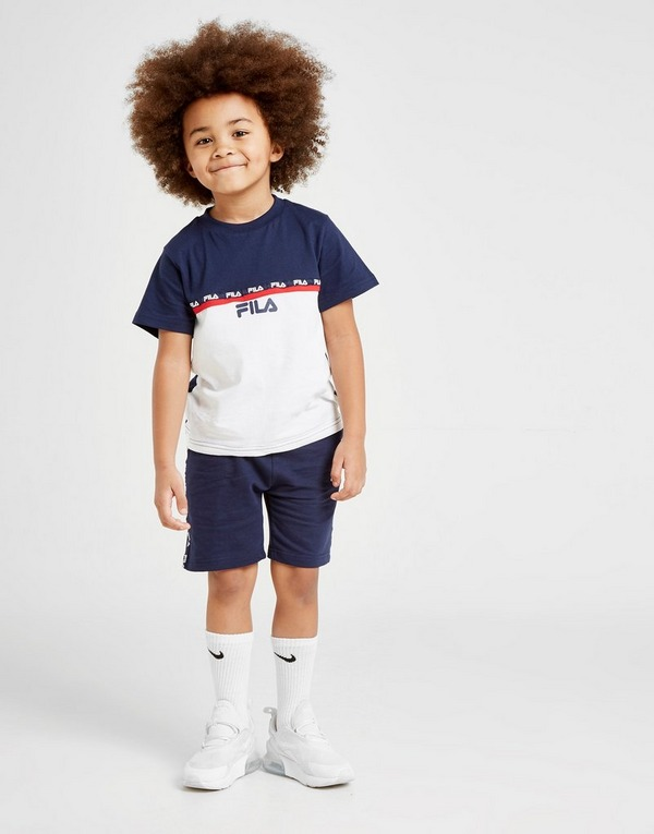 Fila Zayn Tape T-Shirt/Shorts Set Children