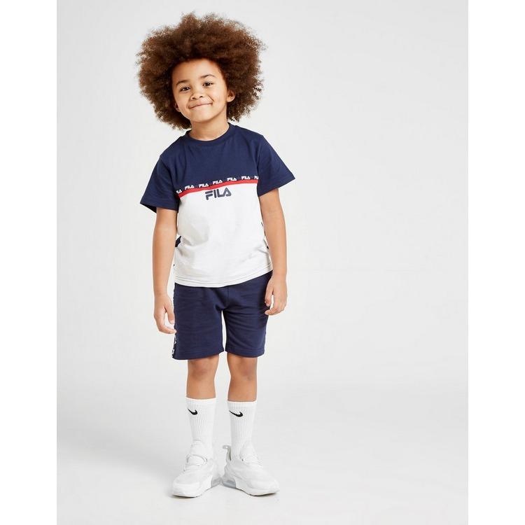 Fila Zayn Tape T-Shirt/Shorts Set Children