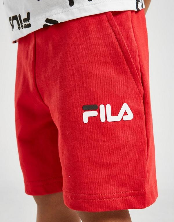 Fila Otis All Over Print T-Shirt/Shorts Sæt Småbørn